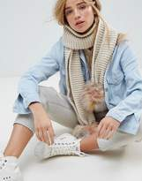 New Look Knit Scarf With Poms