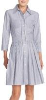 Eliza J Stripe Cotton Shirtdress (Regular & Petite)