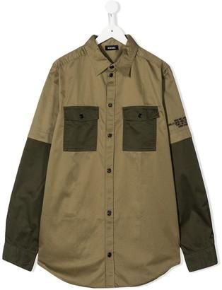 Diesel TEEN colour block shirt