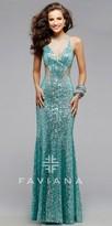 Faviana Illusion Glamour Cut-Out Prom Dress