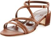 Manolo Blahnik Atrita Leather Block-Heel Sandal