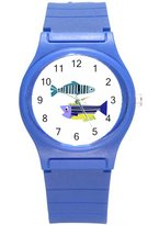 """Kidozooo Boys Girls Cute Zebrafish 1 3/8"""" Diameter Plastic Watch"""
