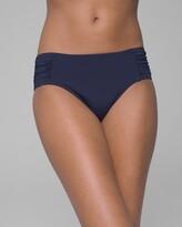 Tommy Bahama Pearl Shirred High Waist Brief Bikini Swim Bottom