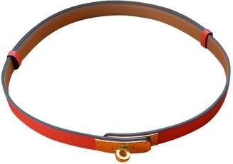 Hermã ̈S HermAs Kelly Orange Leather Belts