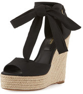 Michael Kors Embry Ankle-Wrap Wedge Sandal, Black