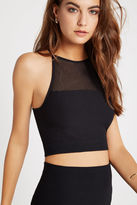 BCBGeneration Mesh Racerback Crop Top - Black