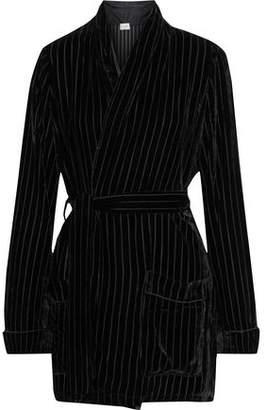 CAMI NYC The Pari Belted Devore-velvet Wrap Cardigan