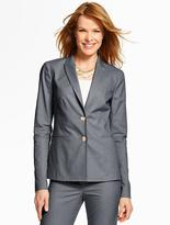 Talbots Summer Cotton Double-Button Blazer