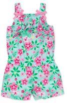 Little Me Babys Floral-Print Cotton Romper