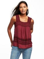 Old Navy Lightweight Cutwork Swing Tank for Women