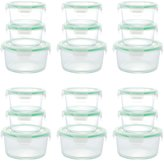 Kinetic GoGreen Glassworks Round Oven Safe Glass Food Storage Container Set - 36 pc