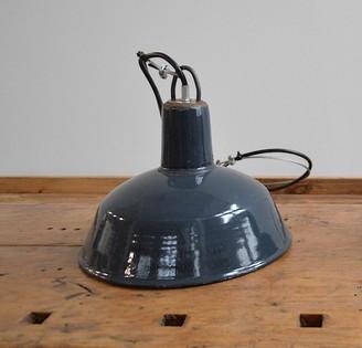 TASH LIVING - Small Vintage Industrial Light in Dark Grey - dark grey | Steel/Enamel | dia: 26 cm - Dark grey