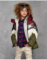 Scotch & Soda Colour Block Puffer Coat