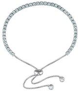Allura 3 3/4 CT. T.W. Blue Topaz Bolo Bracelet with Tassel in Sterling Silver