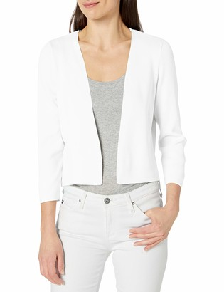 Jones New York Women's Short 3/4 SLV Metal Closure Cardigan