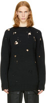 Miharayasuhiro Black Broken Sweater