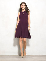 dressbarn Keyhole Fit-and-Flare Dress