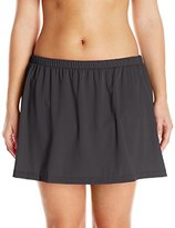 Maxine Of Hollywood Women's Plus-Size Solid Tricot Skirted Bikini Bottom
