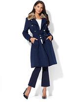 New York & Co. Wool-Blend Military Coat