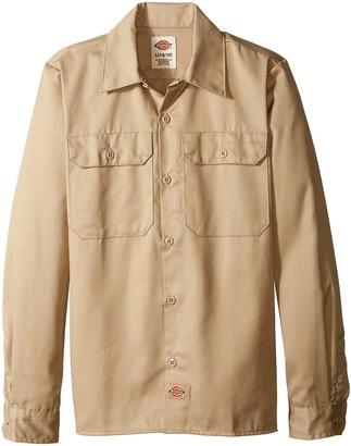 Dickies Big Boys' Twill Long Sleeve Shirt