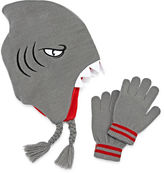 Asstd National Brand Shark Hat & Glove Set - Boys 8-20
