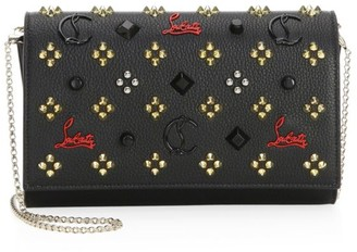 Christian Louboutin Paloma Studded Leather Clutch