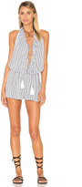 Indah Swoon Printed Lace Up Romper