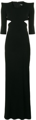 DSQUARED2 structured shoulder gown