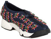 Christian Dior Blue Rose Flower Fusion Canvas Sneaker