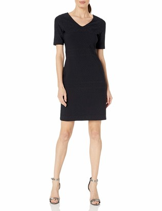 Julia Jordan Women's Short Sleeve Rio Knit Body Con Shift Dress