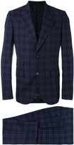 Gucci checked two-piece suit - men - Cupro/Wool - 48