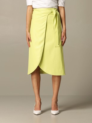 Armani Exchange Midi Skirt In Synthetic Leather