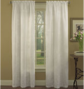 Laura Ashley Devon 2-Pack Rod-Pocket Embroidered Curtain Panels
