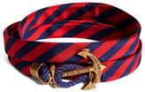Brooks Brothers Kiel James Patrick Navy and Red BB#5 Stripe Wrap Bracelet