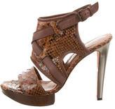 Lanvin Snakeskin Platform Sandals
