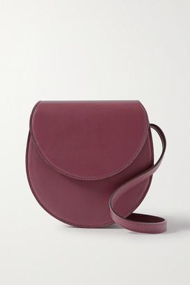 Hunting Season Leather Shoulder Bag - Burgundy