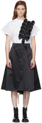 Noir Kei Ninomiya Black Bow Detail Suspender Skirt