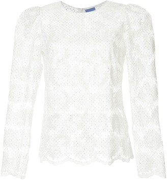 Macgraw floral embroidered blouse