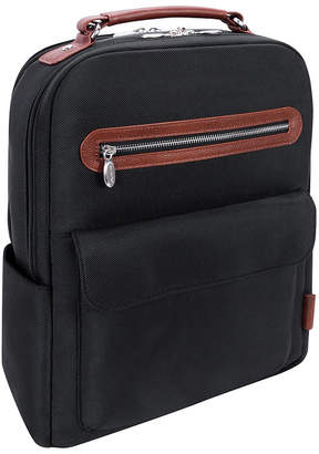 "McKlein Logan 17"" Nylon Dual-Compartment Laptop Tablet Backpack"
