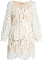 Zimmermann Gossamer floral-embroidered silk dress