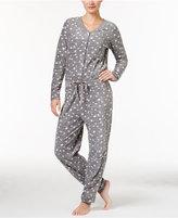Hue Cozy Microfleece Pajama Jumpsuit