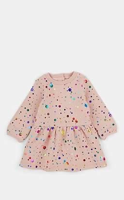 Stella McCartney Infants' Metallic Polka Dot Cotton Fleece Dress - Pink