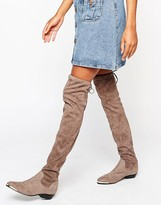 Over The Knee Suede Boots - ShopStyle