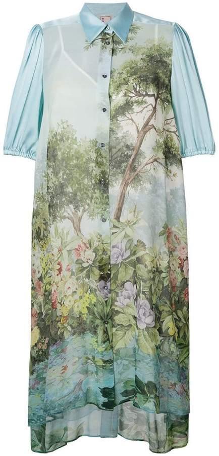 Antonio Marras printed midi shirt dress