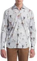 Saks Fifth Avenue COLLECTION Graphic Cotton Button-Down Shirt