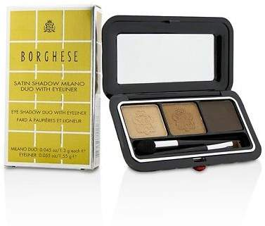 Borghese NEW Satin Shadow Milano Duo With Eyeliner - # 01 Bellezza Brown 4.15g