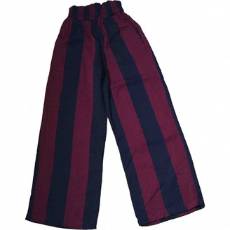 Ace&Jig Burgundy Cotton Trousers for Women