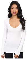 Alternative Rib Sleeve Scoop Neck Tee