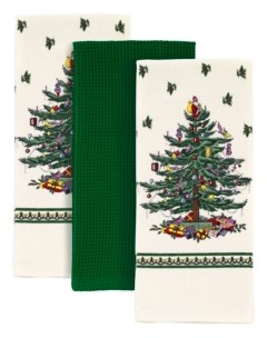 Spode Christmas Tree 3pc Kitchen Towels