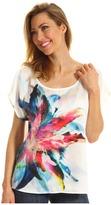 DKNY Amazon Floral Print Top (White) - Apparel